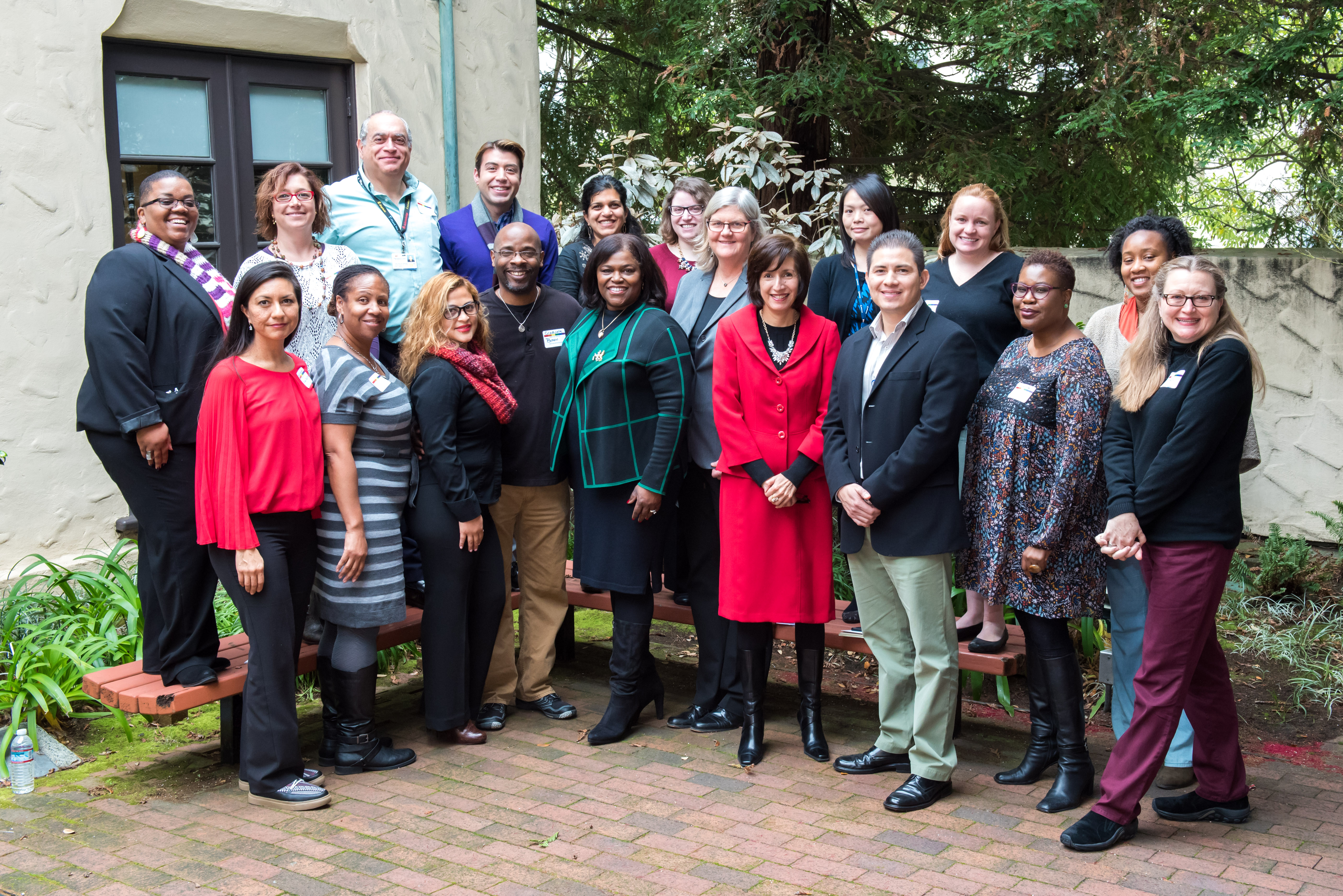 Diversity and Inclusion Certificate Program Cohort Poses at Faculty Alumni House Graduation Celebration