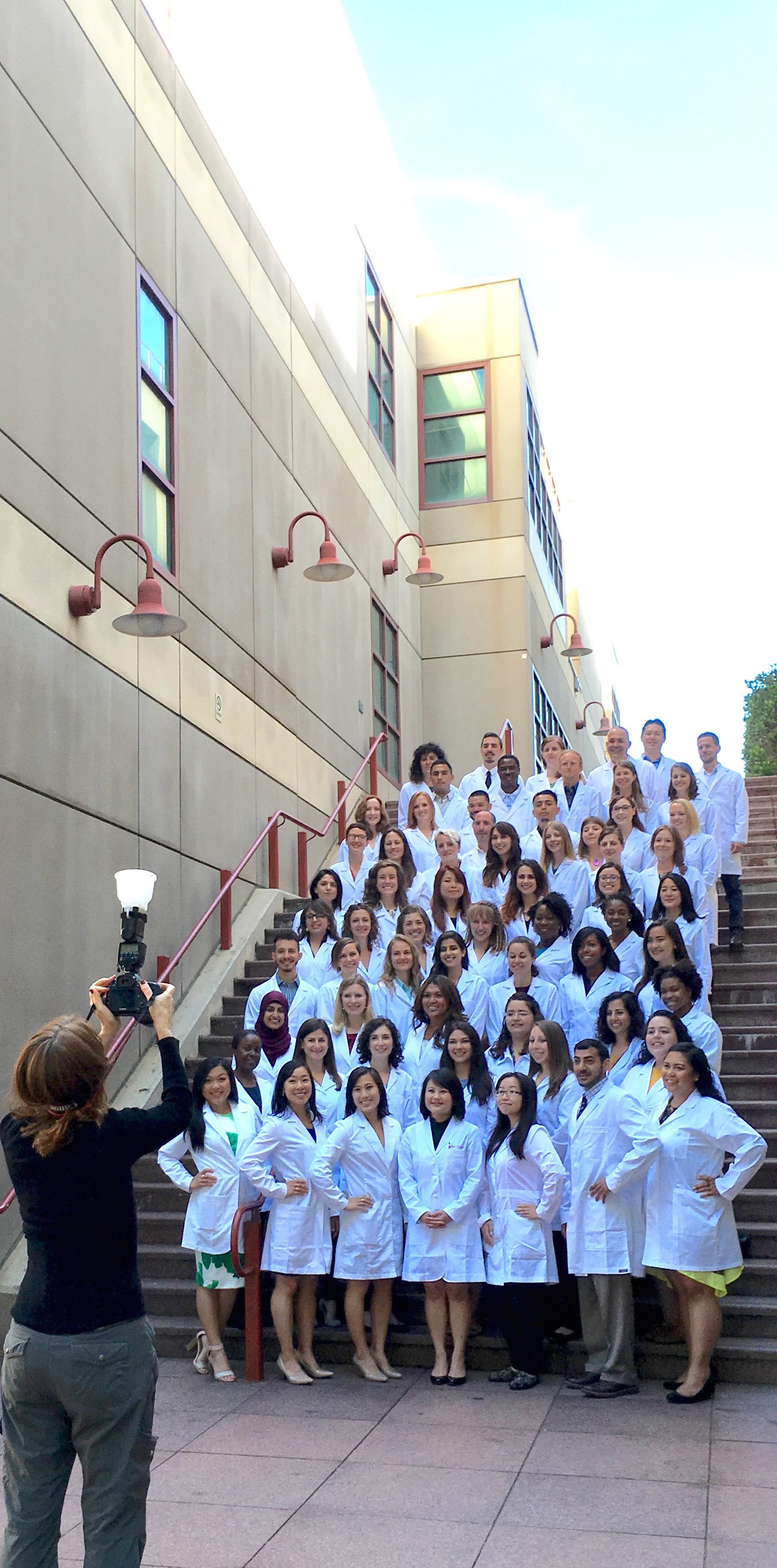 Photographer Susan Merrell takes a photo of our newest cohort of MEPN students.