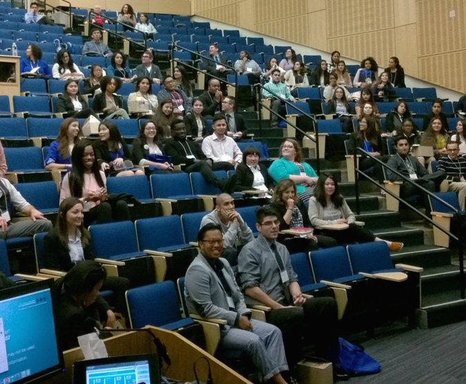 Early bird attendees in Cole Hall for #InsideUCSF2017. Photo courtesy of @UCSFeaop.