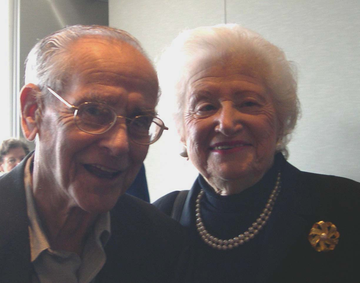 Professor Emerita Dorothy Rice (right) and her husband Jim (left).
