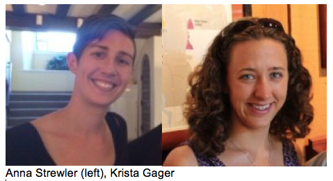 Headshots of Anna Strewler (left) and Krista Gager