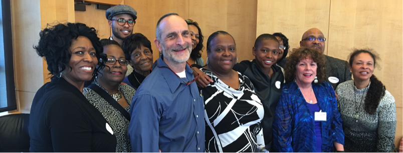 Helen Martin Awardee, Shirley Banks (center), possess with Seth, Gerri, family and friends.