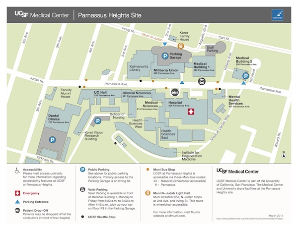 Map and Directions | UCSF School of Nursing