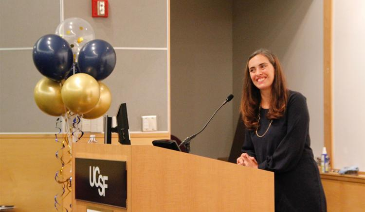 Summer Thompson delivered the cohort's student address at the DNP program's closing ceremony.